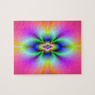 Flower in Neon Puzzle