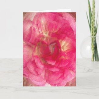 Flower in Pink card