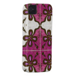 Flower in Pink Inspired by Portuguese Azulejos iPhone 4 Case-Mate Cases