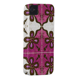 Flower in Pink Inspired by Portuguese Azulejos iPhone 4 Case