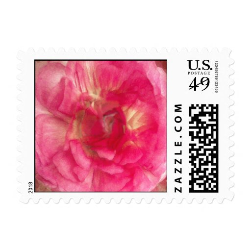 Flower in Pink Postage Stamps