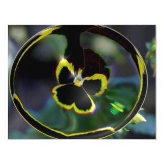 flower in raindrop card