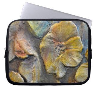 flower  in stone laptop sleeve