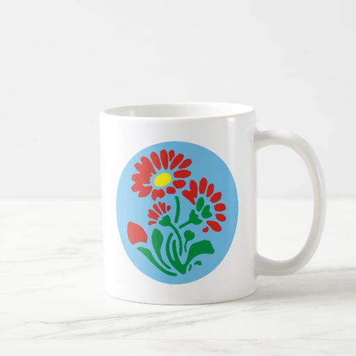 flower in the circle more flower into circle coffee mug