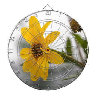 flower in the fog dartboard with darts