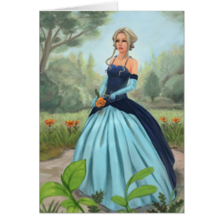 """Flower in the garden"" Greeting Card"