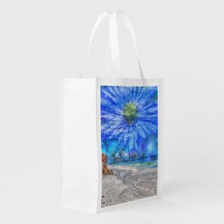 flower in the sky (U) Grocery Bag