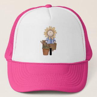 Flower In Wheel Barrow Trucker Hat