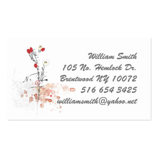 flower ink blots business card
