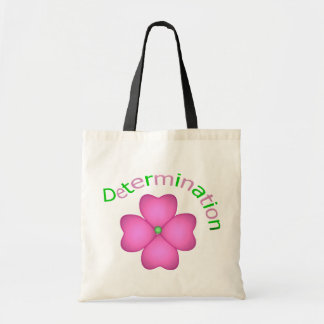 Flower Inspirational Determination Budget Tote Bag