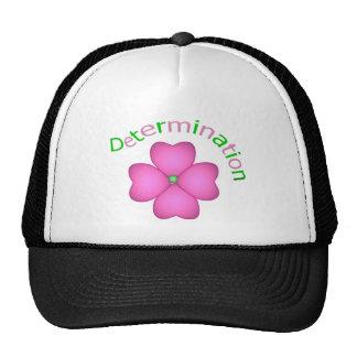 Flower Inspirational Determination Trucker Hats