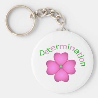 Flower Inspirational Determination Keychain