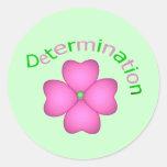 Flower Inspirational Determination Sticker
