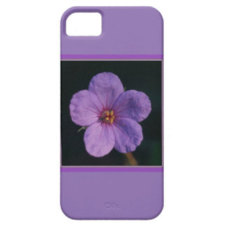 Flower iPhone 5/5S case with purple blossom
