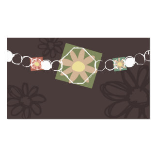 flower jewelry necklace business card