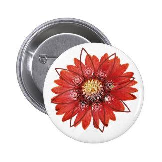 Flower JPEG rojo Pin