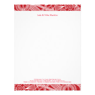 Flower jungle Personalized stationary Letterhead