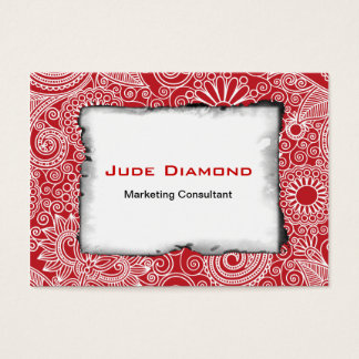 Flower Jungle Red Business Card