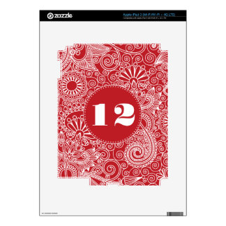 Flower Jungle Red iPad 3 Decals