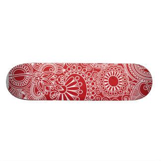 Flower Jungle Red Skateboard Deck