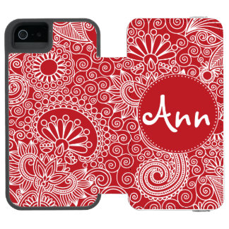 Flower Jungle Red Incipio Watson™ iPhone 5 Wallet Case