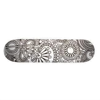 Flower Jungle White Skate Board Decks