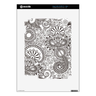 Flower Jungle White Skin For The iPad 2