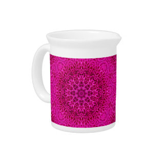 Flower Kaleidoscope   Porcelain Pitchers