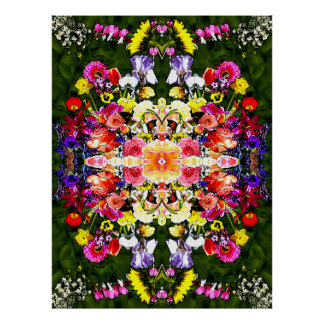 Flower Kaleidoscope Poster
