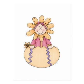 Flower Kid in Hatched Egg Postcard