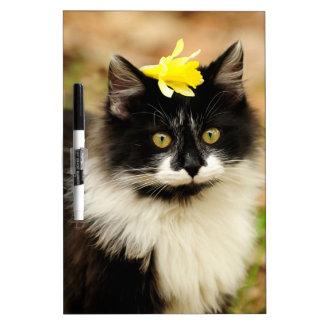 Flower Kitten Dry Erase Whiteboards