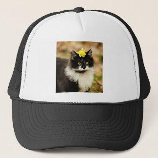 Flower Kitten Trucker Hat