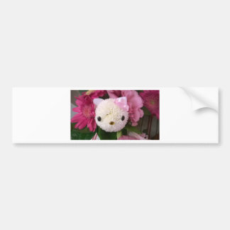 Flower Kitty Bumper Sticker