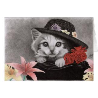 Flower kitty card
