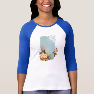 Flower Lady 3/4 Sleeve Raglan (Fitted) T-Shirt