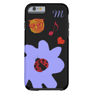 flower, ladybug, owl, heart & music tough iPhone 6 case