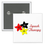 flower large pinback buttons