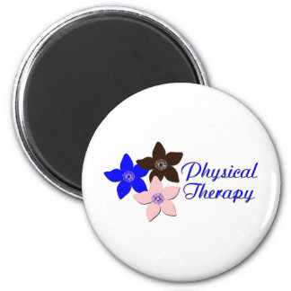 flower large pink 2 inch round magnet