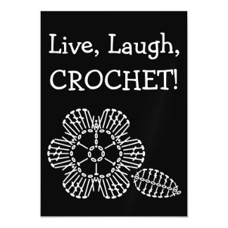 Flower & Leaf Crochet Chart (Black & White) Magnetic Card