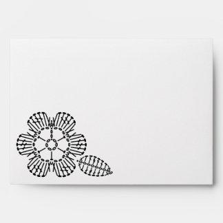 Flower & Leaf Crochet Chart Pattern Envelope