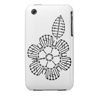 Flower & Leaf Crochet Chart Pattern iPhone 3 Covers