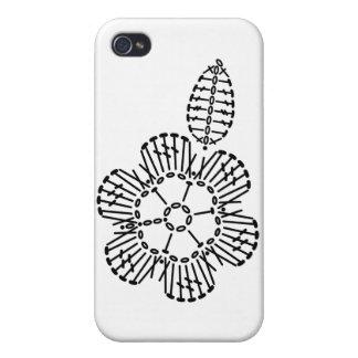 Flower & Leaf Crochet Chart Pattern iPhone 4/4S Cases