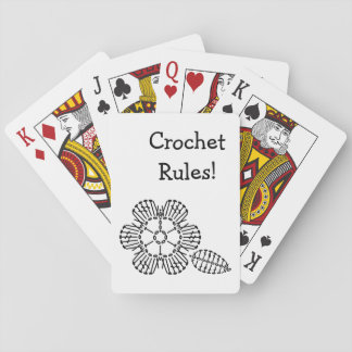 Flower & Leaf Crochet Chart Pattern Playing Cards