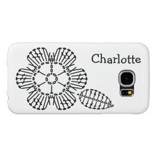 Flower & Leaf Crochet Chart Pattern Samsung Galaxy S6 Case