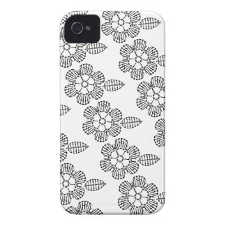 Flower & Leaf Crochet Chart Pattern (Tiled) iPhone 4 Case-Mate Cases