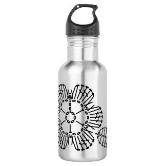 Flower & Leaf Crochet Chart Pattern Water Bottle