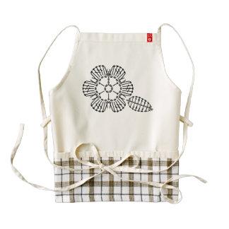 Flower & Leaf Crochet Chart Pattern Zazzle HEART Apron