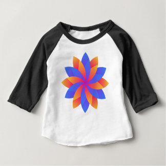 Flower leaf logo design baby T-Shirt