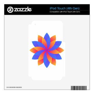 Flower leaf logo design skin for iPod touch 4G