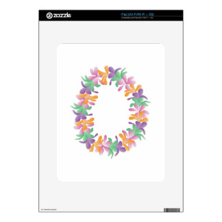 Flower Lei Decals For The iPad